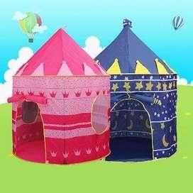 Tenda KERUCUT Castle Istana Anak Jumbo Warna BIRU 105 x 135 cm