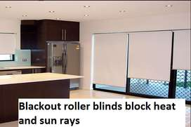 Roller Blinds For office window blind wooden and vinyl floor ceiling