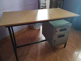 Office/home use  table with cash/file drawers