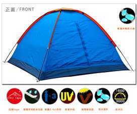 Tenda Camping Outdoor Tent Single Layer 3-4 Orang - Blue