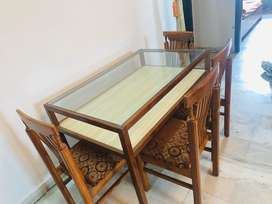 Dining table with 4 chair (Wooden)