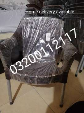 Rattan pure olastic chairs 0320/0112117 home delivery available