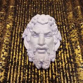 larger than Life Greek style Sculpture face high quality details.