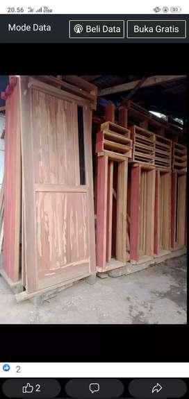 kusen + pintu dari kayu bekas Borneo yg sudah oven dan berkualitas