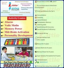 Online/Offline Abacus, Vedic Maths, Memory Power, Super Sensory Power