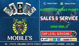 MOBILE SALES & SERVICE ALL TYPES OF MOBILE &TAB,,