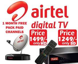 AIRTEL DIGITALTV SALE LOWEST ONLINE PRICES TATA SKY DISH D2H TATASKY