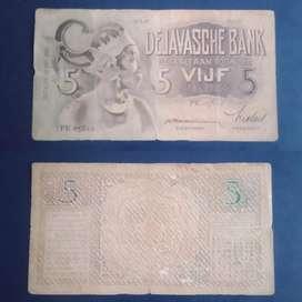 Uang kuno wayang 10 gulden