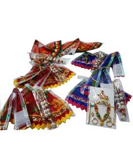 Ganesh ,laxmi ,laddu gopal, parvati Hanuman cotton dress