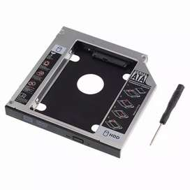 HDD Caddy Laptop Size 9.5mm Slim - Slot DVD to Hardisk SATA Dual SSD