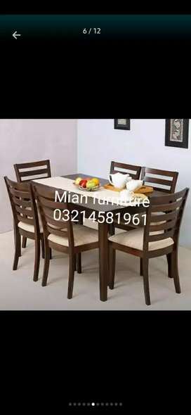 Elegant dining table with six chairs code D 10