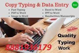 Home based part time job data typing