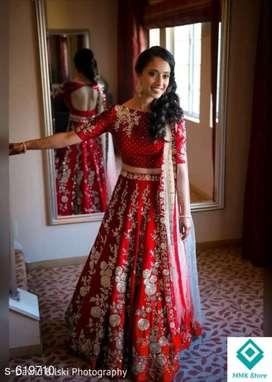 Kashvi Fancy Taffeta Silk Embroidered Lehengas