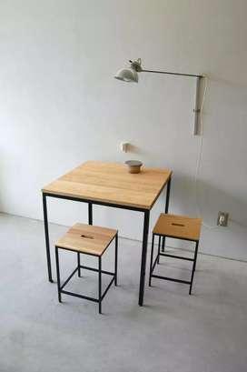 Meja makan meja cafe meja restoran coffee table meja santai meja baca