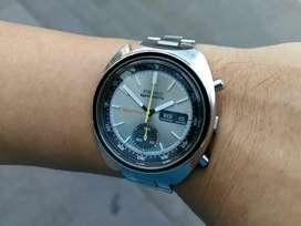Ori 70s Seiko Chrono 5 sports Speedtimer JDM 6139-7020 silver Oris iwc