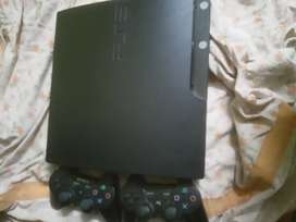 PS3 WITH  22 GAMES WITH TWO REMOTE AND HMDMI CABLE( GTA 5FIFA 1722game