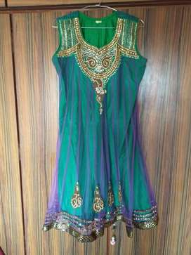 Green Kurti top and bottom set for special sale price