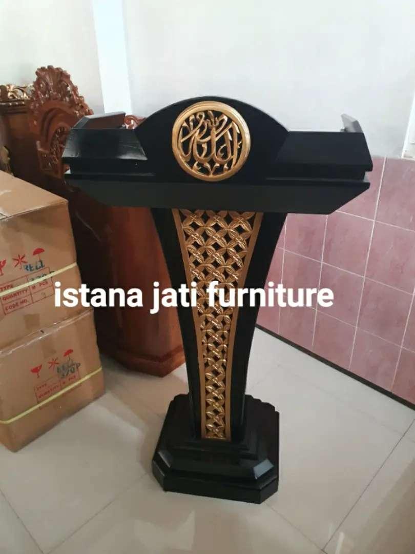 Mimbar Masjid Bahan Kayu Jati (  istana jati furniture IJF ) 0