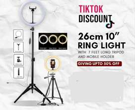 26CM Ring Light with 7Feet Tripod ( FREE HOME DELIVERY )