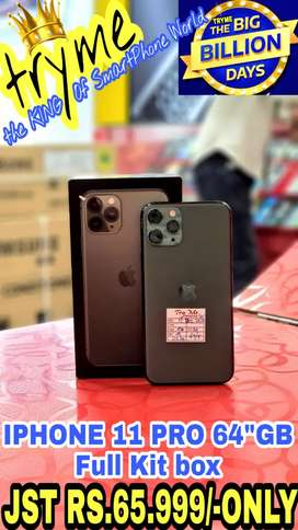 TRYME With Warranty IPHONE 11 PRO Full Kit Box Brand New Conditions