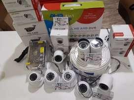 cctv Ahd 4ch kemera lensa 3mp hardis 500 gb ,pinang