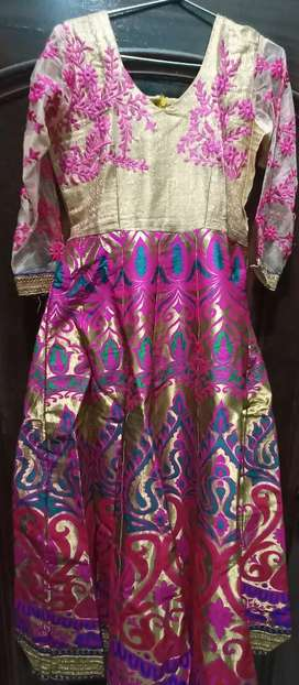 Beautiful  multicolored Brocket gown