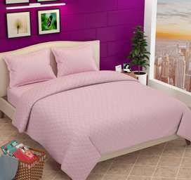 Luxury quilted bedcover set