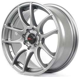 Velg Mobil racing ring 16 semi matte grey buat mobilio bisa dicicil