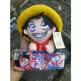 Boneka Luffy One Piece Safety Driving