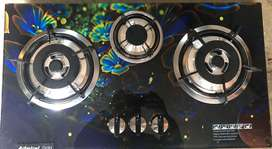 Admiral 3 burners Glass Hob with auto ignition available with warranty