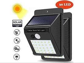 Lampu Dinding / Solar Wall Light 30 Led Tenaga Matahari PIR CDS Sensor