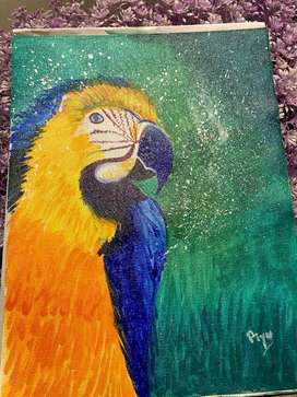 Macaw parrot painting