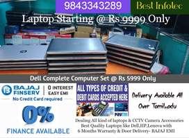 Easy EMI All HP, Lenova,Dell Laptops & Dell Computer Set Rs 5999