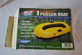 """AWESOME H2O HEAVY DUTY 4-PERSON BOAT INFLATABLE BOAT 112"""" X 48"""" BRAND"""
