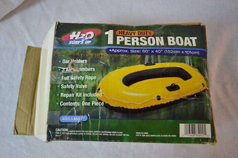 "AWESOME H2O HEAVY DUTY 4-PERSON BOAT INFLATABLE BOAT 112"" X 48"" BRAND"