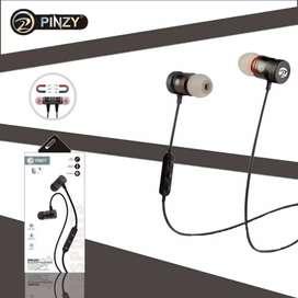 Bluetooth Wirelles headset Pinzy Original Batteray Awet suaraBass