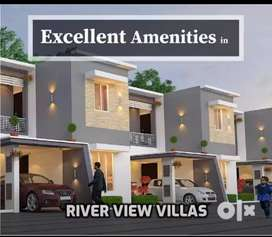 80% bank loan, 3 BHK luxury river view house for sale in palakkad