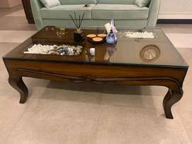 Solid wood center table
