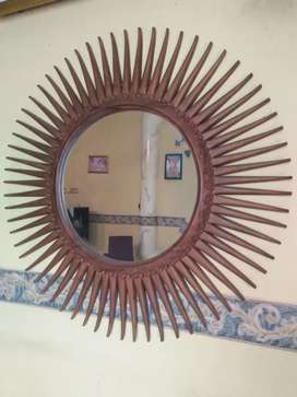 Kaca cermin matahari jati asli