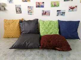 6 poly fibre soft and fluffy cushion set