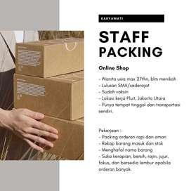 Lowongan Karyawati Staff Packing Online Shop