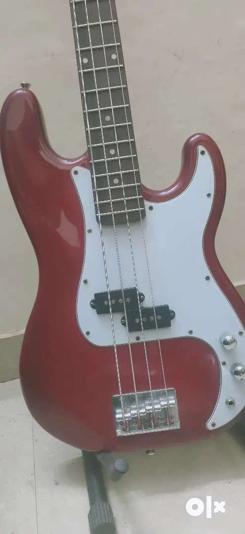 ANTONIS 4 String Red Colour Bass Guitar