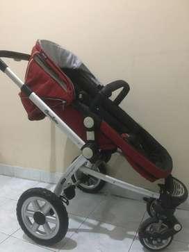 Stroller dan car seat chocolatte satu set