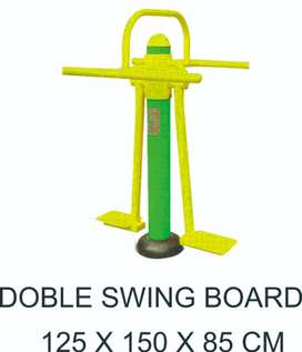 Double Swing Board Outdoor Fitness Murah Garansi 1 Tahun
