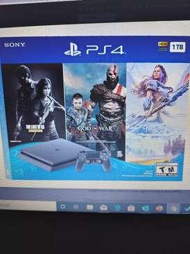 Play Station 4 TB Bundle with god of war, horizon zero down