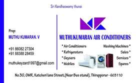 All washing machine ,ac, refrigerators sales ,service and spares also