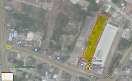 1/2 acre Land with part showroom - busy area