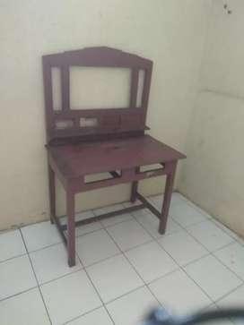 Meja cukur / rias bahan  kayu jati asli
