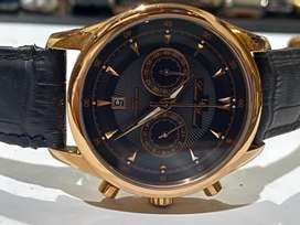 STUNNING LUCIEN PICCARD ROSE GOLD PLATED CHRONOGRAPH GENTS WATCH