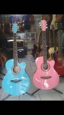 Akustik elektrik import khusus ladies guitaris